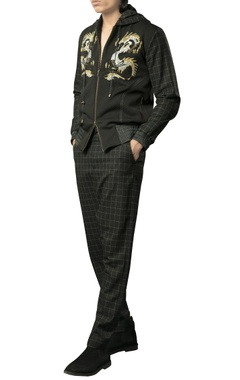 Siddhartha Tytler - Men Plaid drop crouch pants.