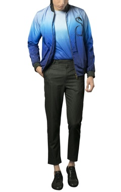Siddhartha Tytler - Men Pinstripe cropped formal trousers