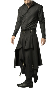 Siddhartha Tytler - Men Heavy crepe layered dhoti pants