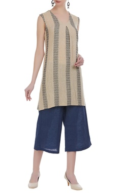 Jute a-line top with culottes