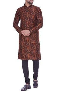Chanderi silk egyptian printed kurta