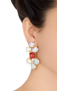 Statement moonstone earrings
