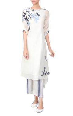 Applique embroidered tunic