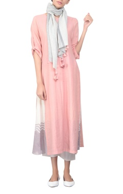 Embroidered tunic with stripped stole