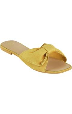 Crimzon Suede bow strap flat sandals
