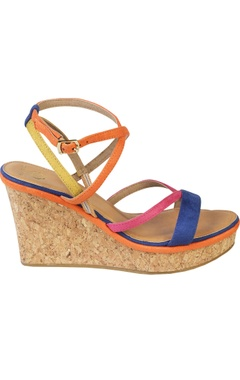 Strappy 4-inch wedge heels