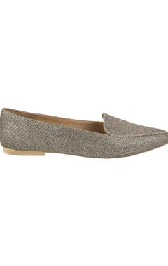 Glitter finish flat loafers
