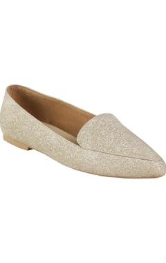 Crimzon Glitter finish flat loafers
