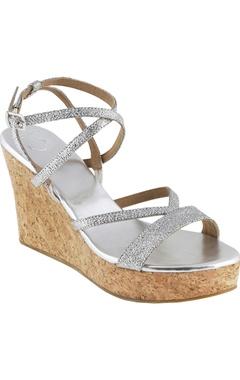 Crimzon 4-inch strappy wedge heels