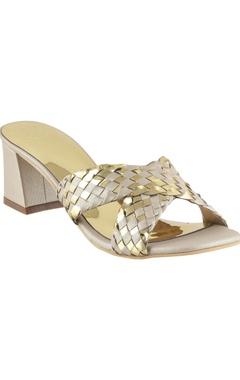 Crimzon Woven cross-strap heel sandals
