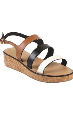 Crimzon Multi-strap tri-colored sandals