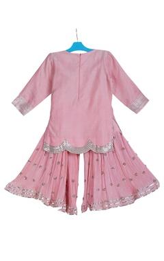 Embroidered kurta with palazzo pants and dupatta