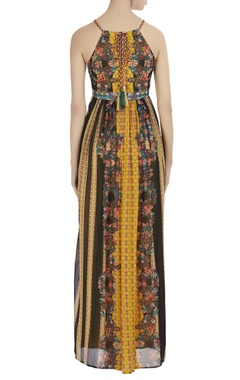 Georgette printed maxi dress