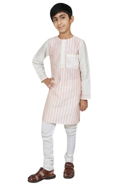 Chiquitita kids couture by Payal Bahl Stripe detail kurta with churidar