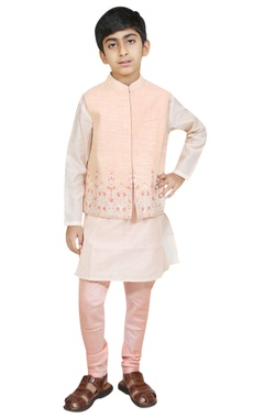 Chiquitita kids couture by Payal Bahl Threadwork embroidered jacket with kurta and churidar