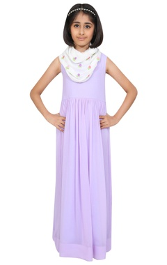 Chiquitita kids couture by Payal Bahl Floor length maxi dress with scarf