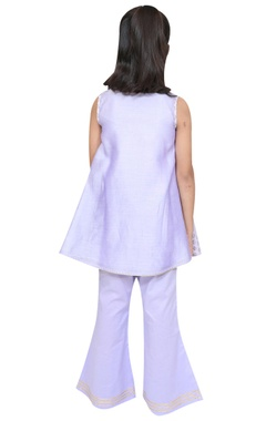 Gota embroidered kurta with flared pants