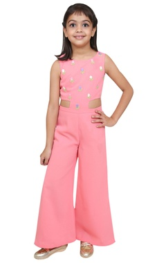 Chiquitita kids couture by Payal Bahl Embroidered floor length jumpsuit