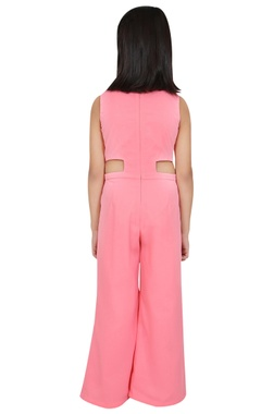 Embroidered floor length jumpsuit