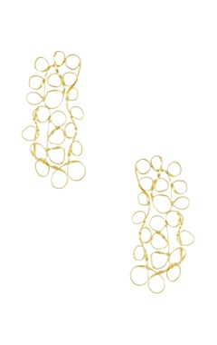 Eurumme Rectangular mesh earrings