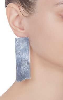 Abstract metal statement earrings