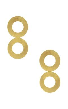 Eurumme Double disc metal earrings