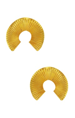 Eurumme Inverted u-shape disc earrings