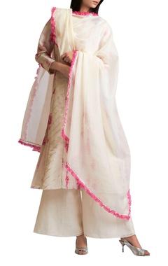 Gota embroidered kurta set with dupatta