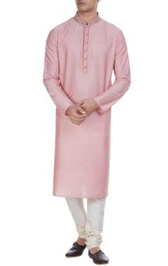 Cotton silk block printed kurta