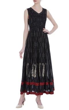 Black silk eila maxi dress