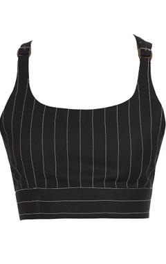 Striped bralette with belt details