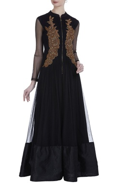 Net zardozi & sequin embroidered anarkali set