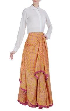 Poonam Dubey Pleated style maxi skirt