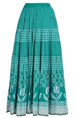 Lotus printed maxi skirt