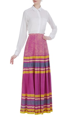 Poonam Dubey Multi-printed ethnic long skirt