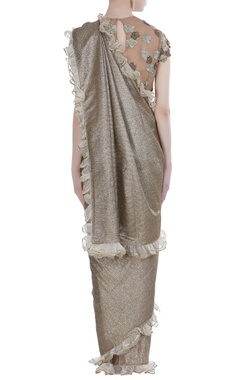 Lurex linen sari with blouse