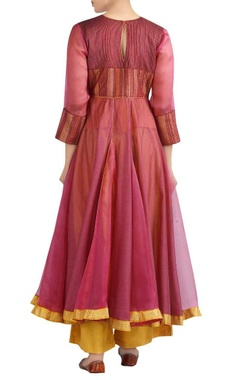 Embroidered kurta with pants and dupatta