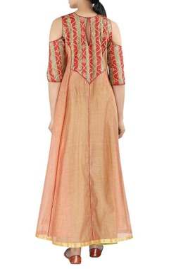 Embellished kurta with straight pants and dupatta