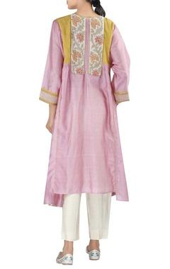 Chanderi asymmetric tunic with pants