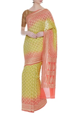 Mysore georgette sari with unstitched blouse