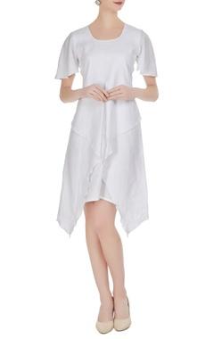 Flared wrap style dress