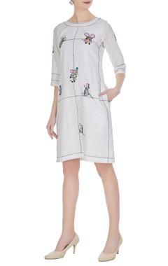 Handwork embroidered midi dress
