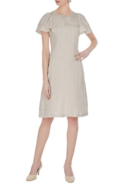 Pleated detail midi dress
