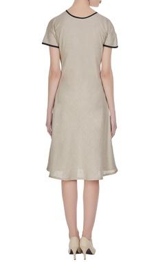 Midi dress with utility pockets