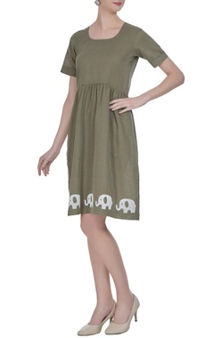 Summer dress in patchwork embroidery