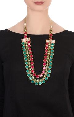 Kundan layered statement necklace