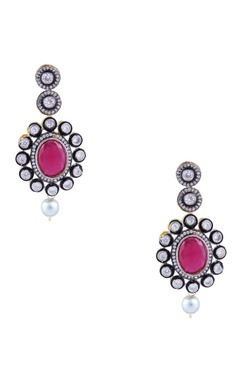 Victorian double layer kundan necklace with earrings