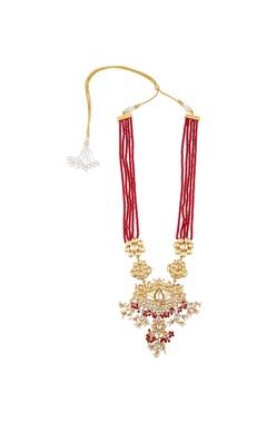 Layered kundan & pearl festive necklace