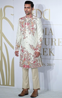 Embroidered sherwani with trouser pants