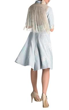 Embroidered shirt midi dress